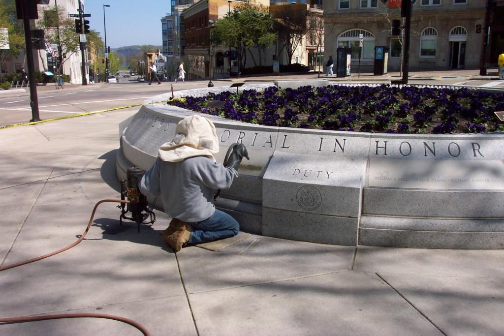 Onsite Lettering, Cleaning, Repairs | Pechmann Memorials, Inc